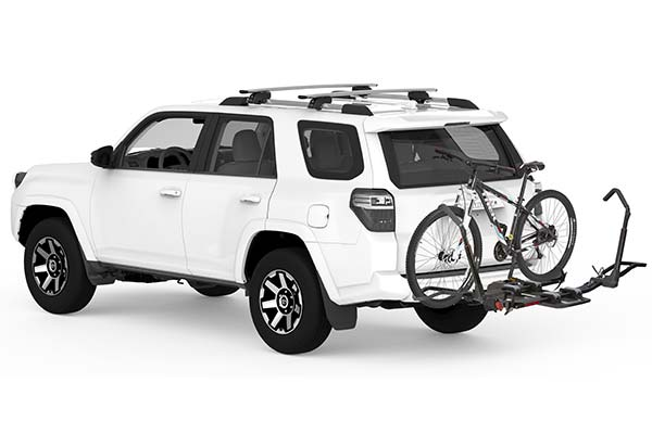 yakima drtray hitch mount bike rack installed suv 2