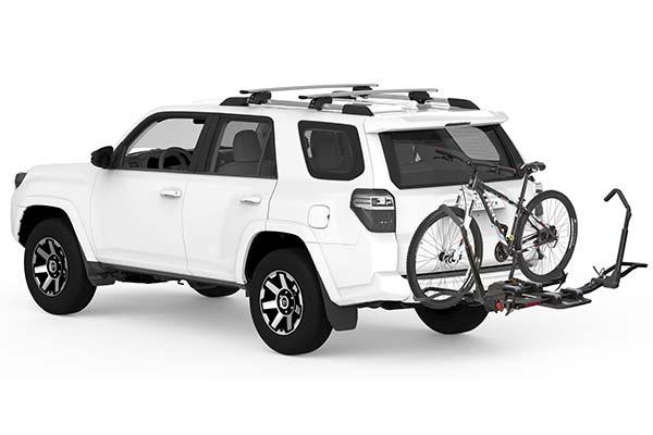 yakima drtray hitch mount bike rack installed suv 2