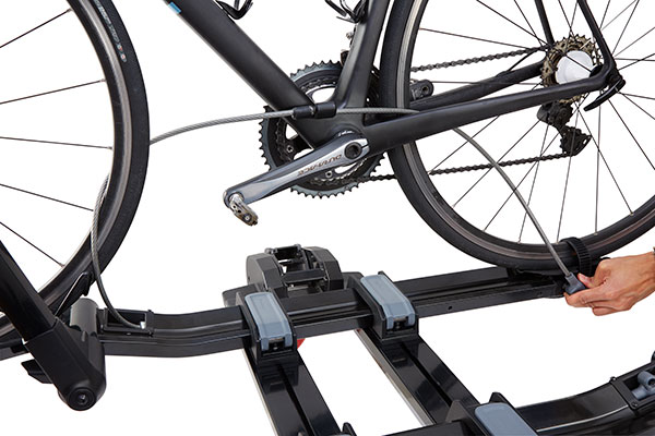yakima drtray hitch mount bike rack lock