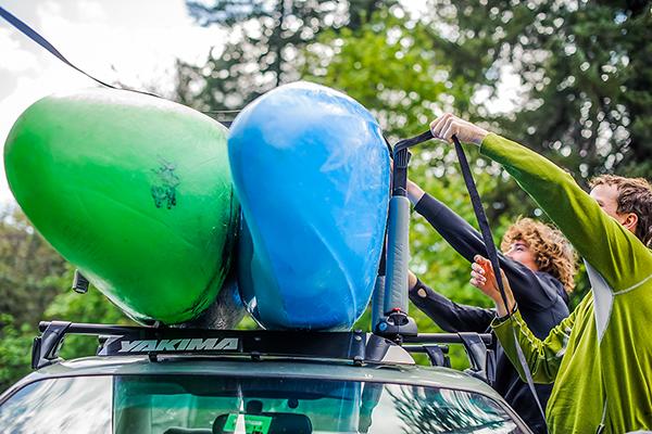yakima bigstack kayak stacker loading lifestyle