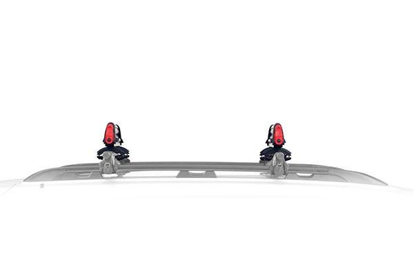 yakima powderhound snowboard and ski rack profile