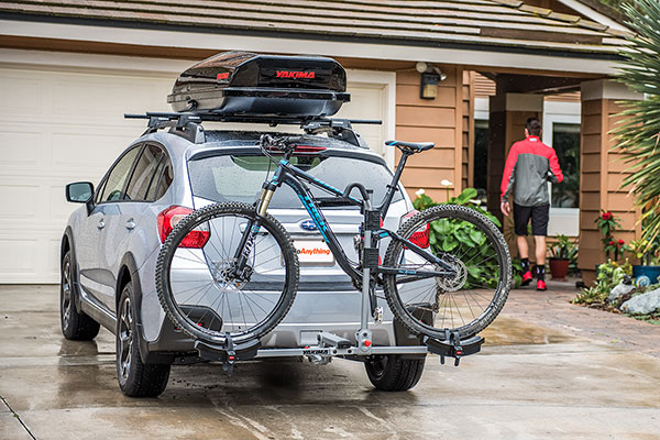 yakima twotimer hitch mount bike rack lifestyle