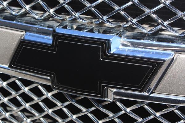 Bordered Grille Emblem  Black