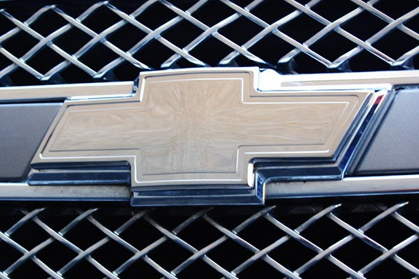 Bordered Grille Emblem  Chrome