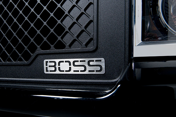 putco boss mesh grilles emblem detail