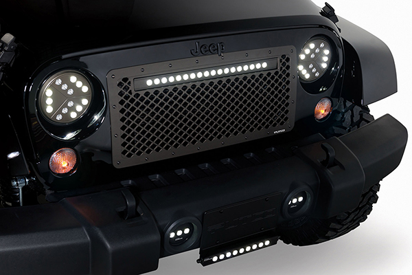 putco boss mesh grilles jeep wrangler installed