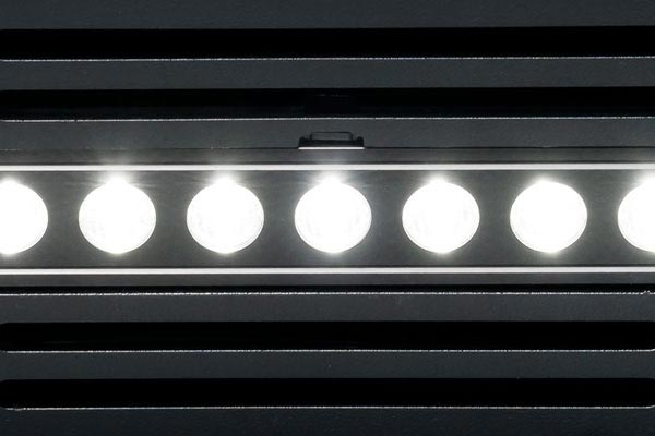 putco luminix led shadow billet bumper grille close up