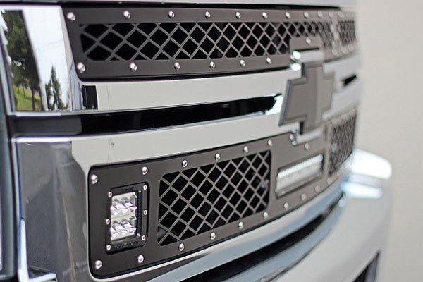 rigid industries led mesh grilles chevrolet 2500 detail