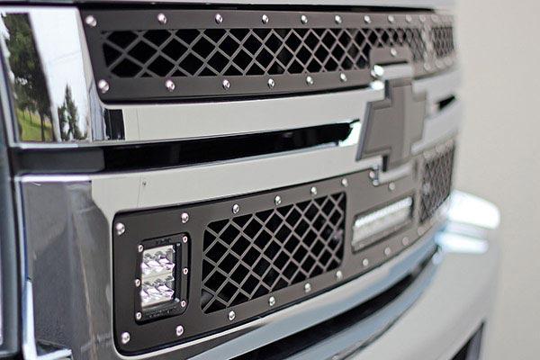 rigid industries led mesh grilles chevrolet 2500 detail