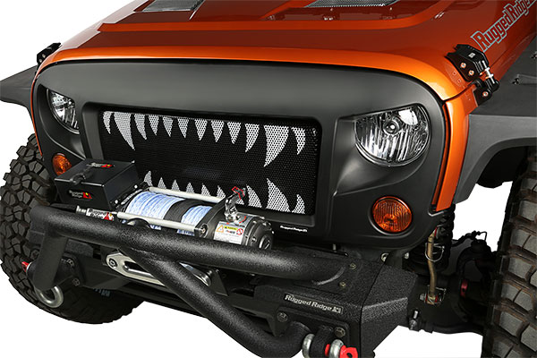 rugged ridge spartan grille jaws lifestyle