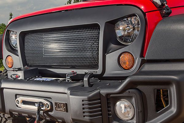 rugged ridge spartan grille standard grille lifestyle