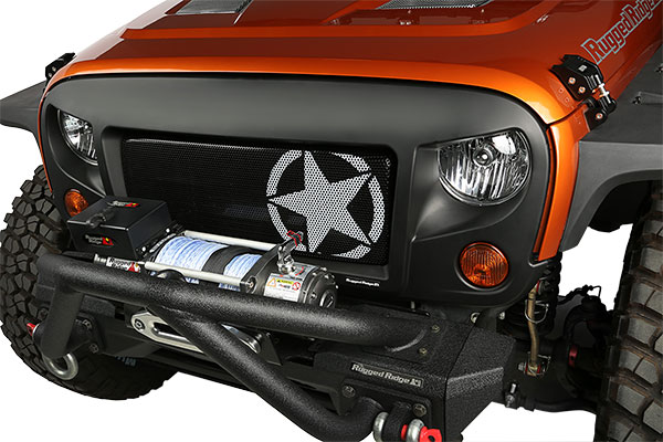 rugged ridge spartan grille star grille lifestyle