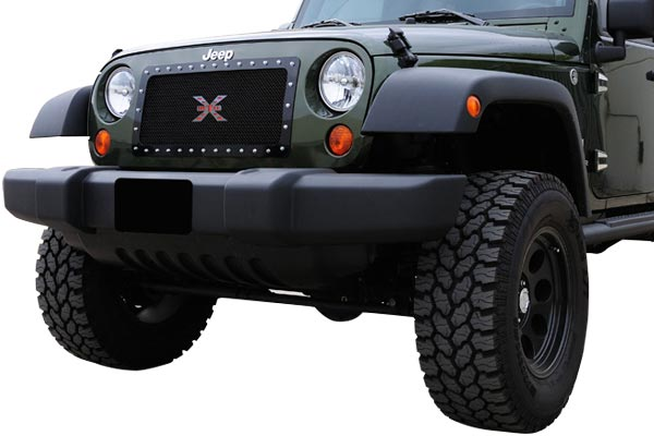 trex xmetal studded mesh grille jeep