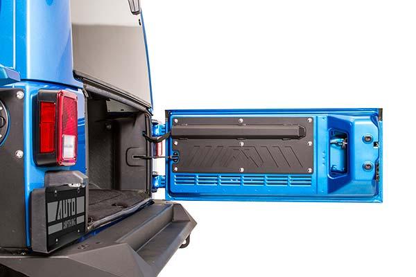 fab fours jeep rear door plate open