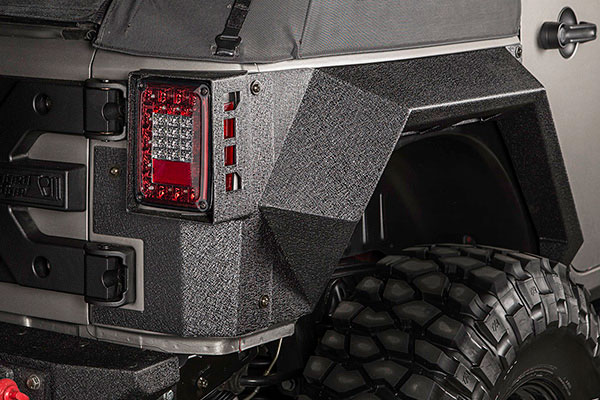 rugged ridge xhd armor fenders detail