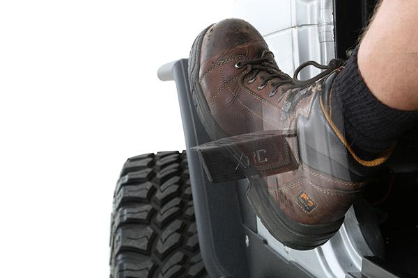 smittybilt xrc door hinge foot pegs installed