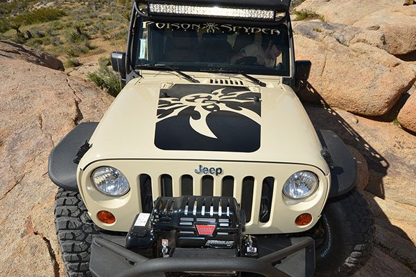 poison spyder hood decal lifestyle