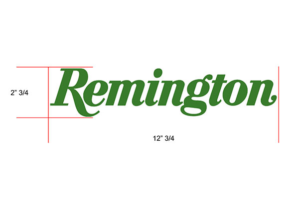 remington decals logo