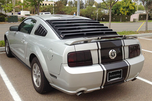 7568 mach speed abs rear window louvers 2005 mustang