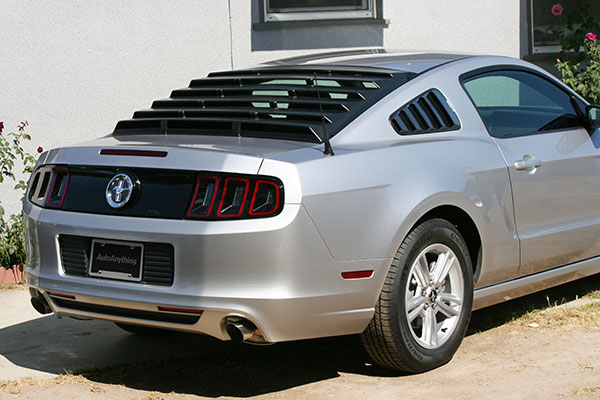 7568 mach speed abs rear window louvers 2014 mustang