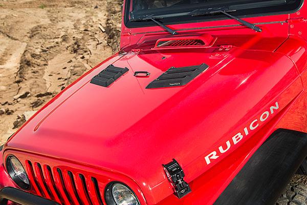 rugged ridge performance hood vents installed tj