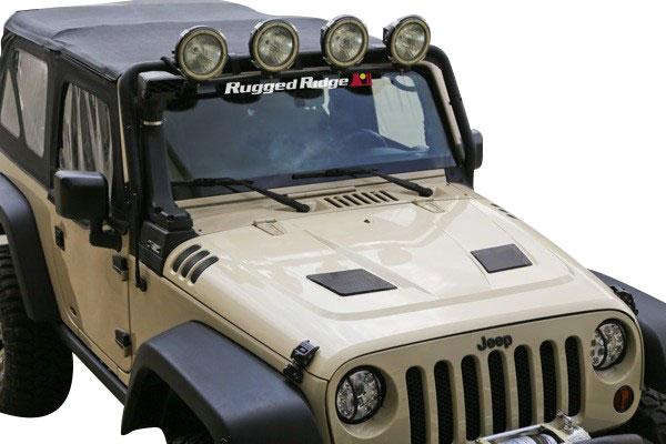 rugged ridge performance vented hood jeep