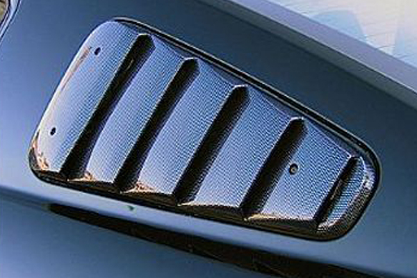 street scene side window louvers gen4 carbon fiber