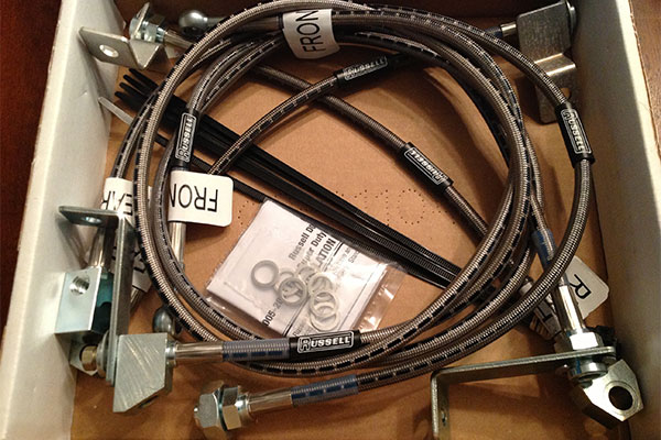 6145 russell brake lines in box