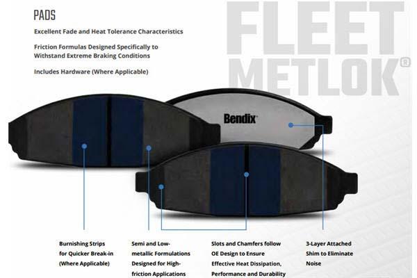 bendix fleet metlok brake pads features 2