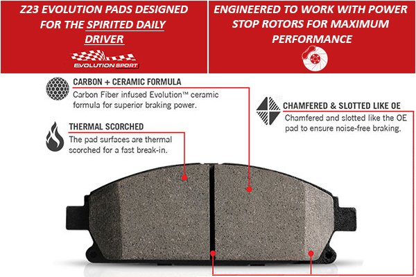 power stop z23 evolution brake pads feature 1