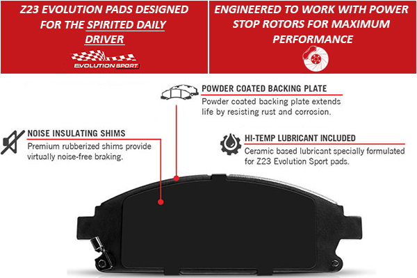 power stop z23 evolution brake pads feature 2