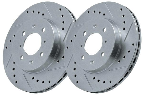power stop z36 truck and tow caliper brake kit rotors