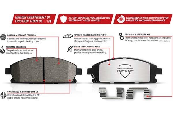 Powerstop Z37 Brake Pad Features
