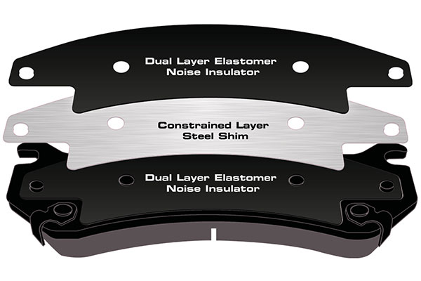 powerstop brake pad shim layers