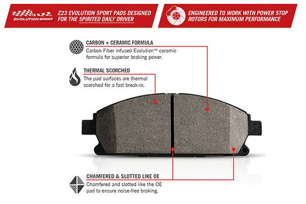 powerstop z23 evolution brake pad features1