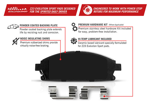 powerstop z23 evolution brake pad features2