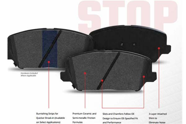 stop by bendix brake pads features 2