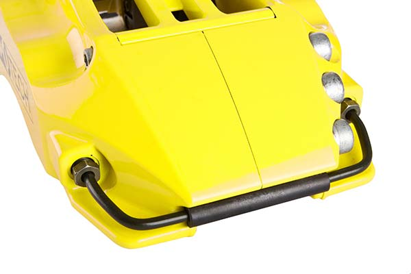 stoptech aerorotors yellow detail