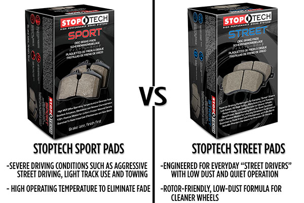 stoptech sport compared to stoptech street brake pads