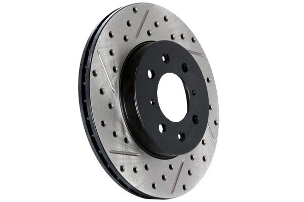 stoptech slotted street brake kit rotor