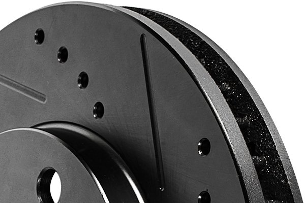 truxp xtreme performance drilled and slotted brake rotors detail