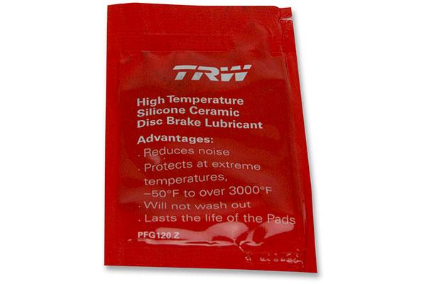 trw premium brake pads brake lubricant