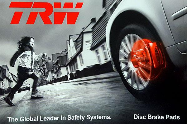 trw premium brake pads front box image