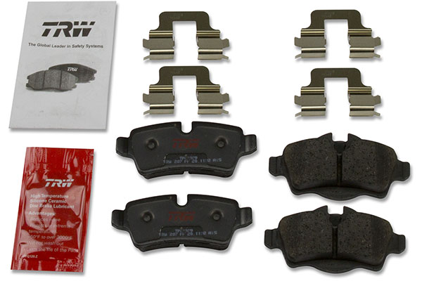 trw premium brake pads kit includes