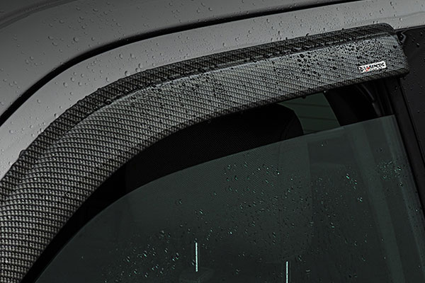 stampede tape onz carbon fiber side window deflectors detail