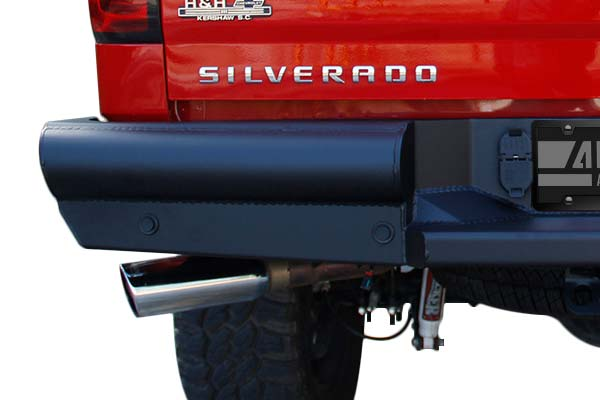 fab fours black steel elite rear bumper detail