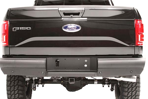 fab fours black steel elite rear bumper installed1
