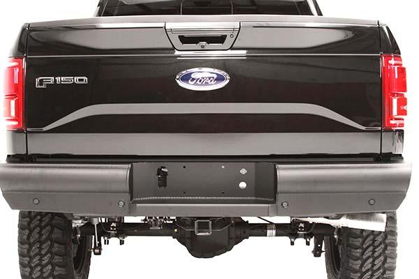 fab fours black steel elite rear bumper installed1