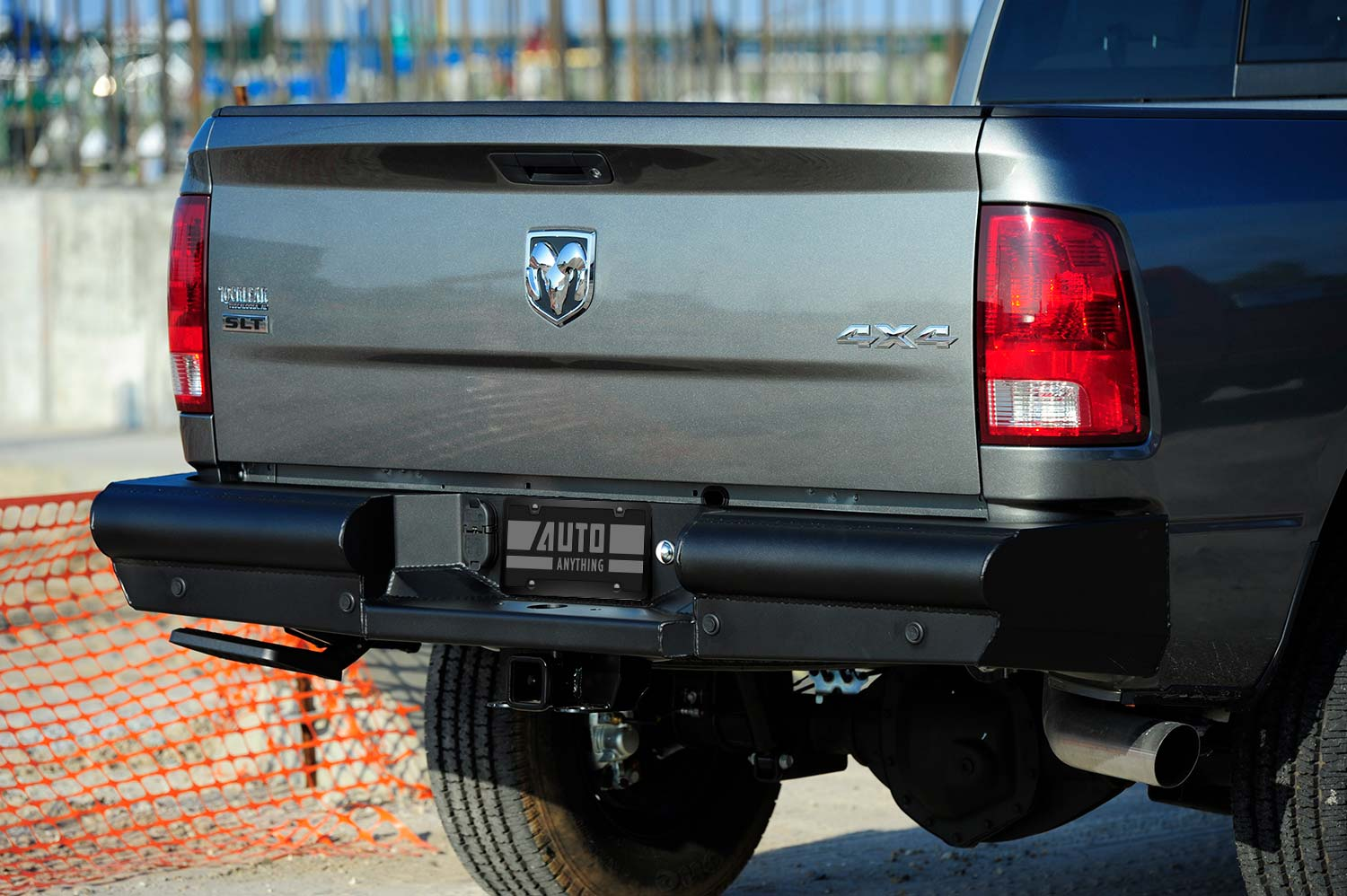 fab fours black steel elite rear bumper lifestyle
