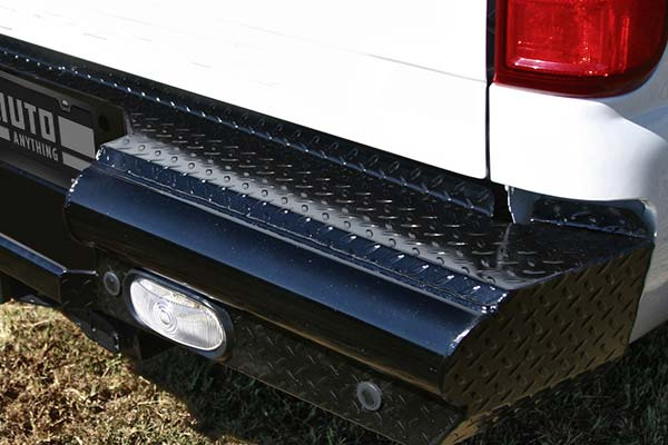 fab fours black steel rear bumper detail